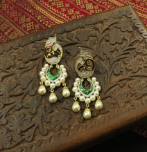 Festive AD Peacock Pearl Earrings