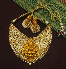 Traditional Pearl Bunch Lakshmi Choker Set