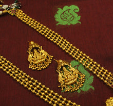 Traditional Ruby-Green Lakshmi Haaram Set