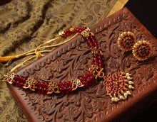 Traditional Kemp Ruby Adigai Set