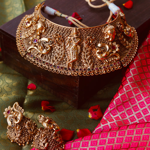 Festive Antique Krishna Choker Set