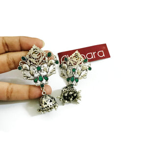 Intricately Cut Bird Jhumka