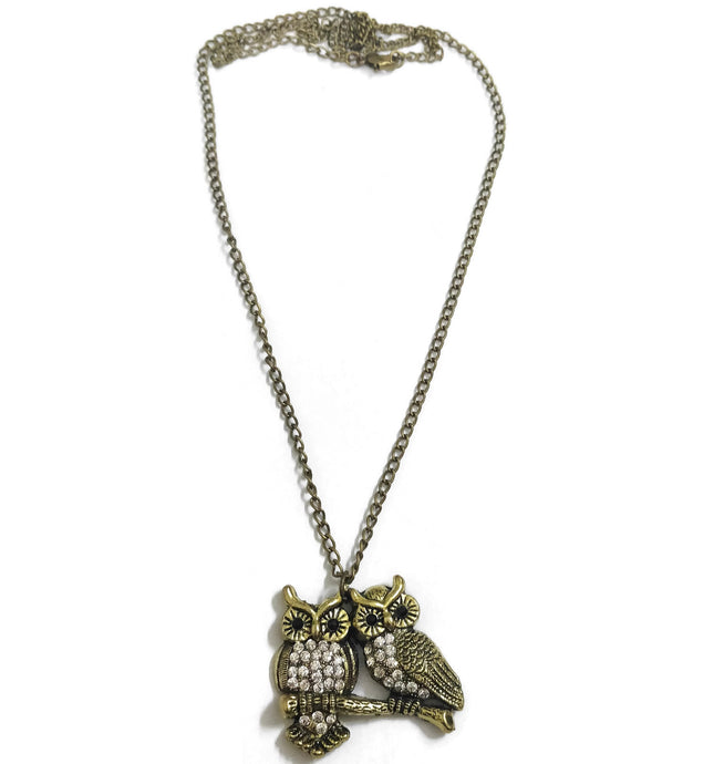 Antique owl neckpiece