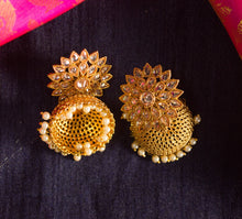 Festive AD over-sized flower jhumka