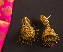 Traditional Ruby-Green Lakshmi Ganesha Antique Set