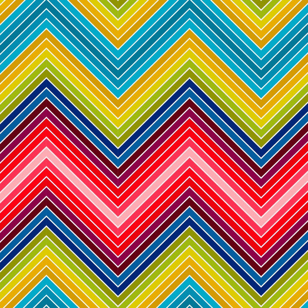 tullibee marni zig-zag print design in rainbow colours
