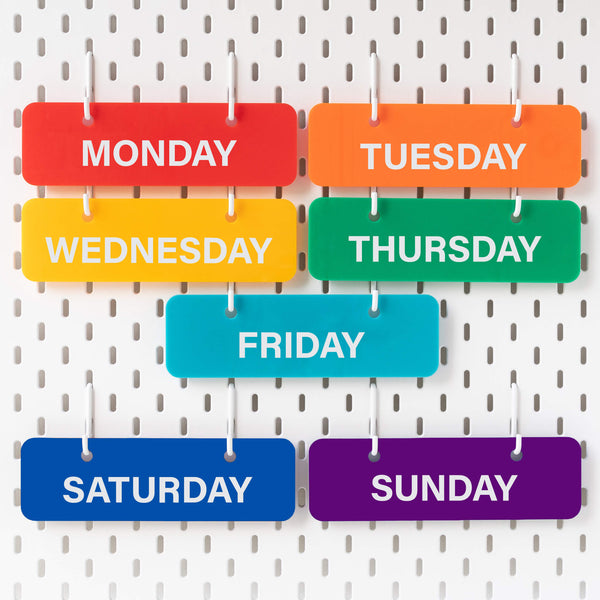 RAINBOW DAYS OF THE WEEK (ONLY)  **ORDER BOOK CLOSES 31ST JULY**