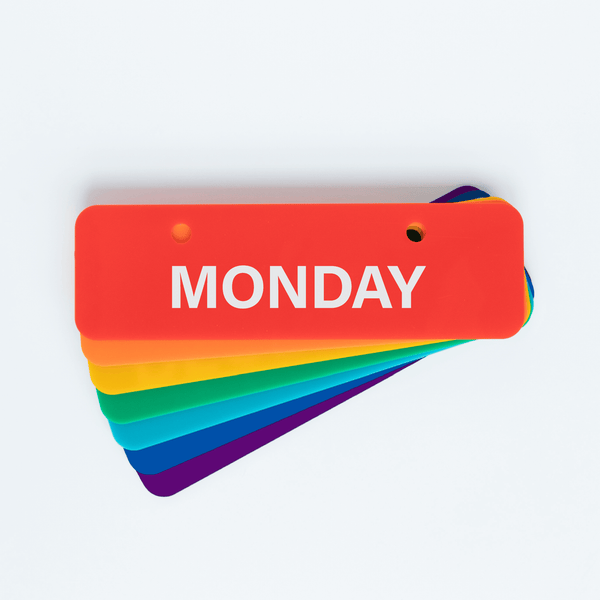 RAINBOW DAYS OF THE WEEK (ONLY)