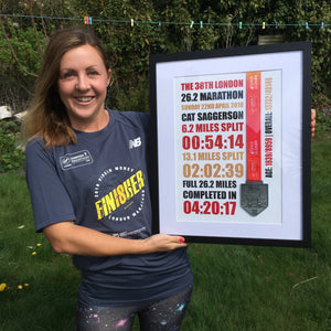 London Marathon Framed Medal