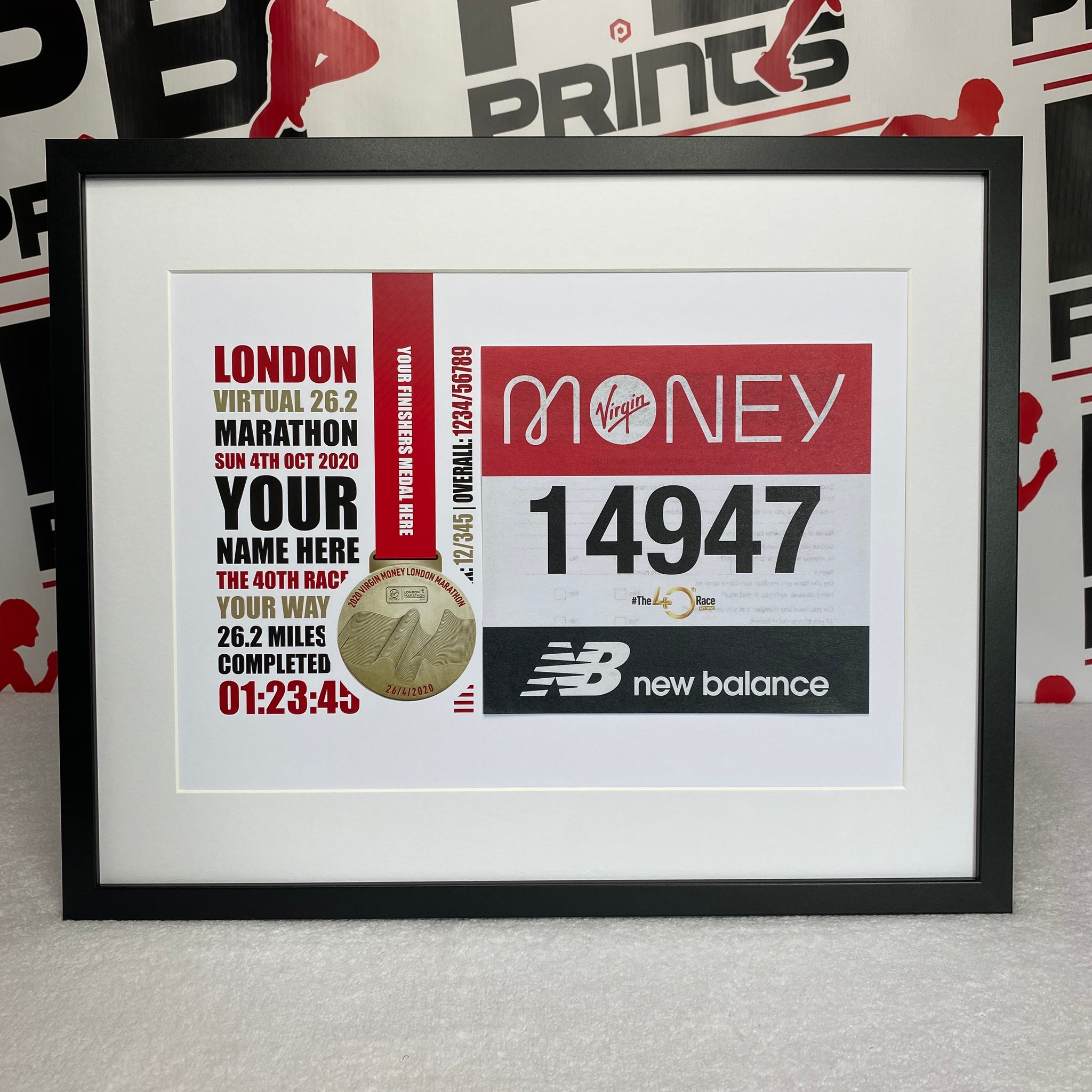 Virtual London 26.2 Marathon (Number Design)