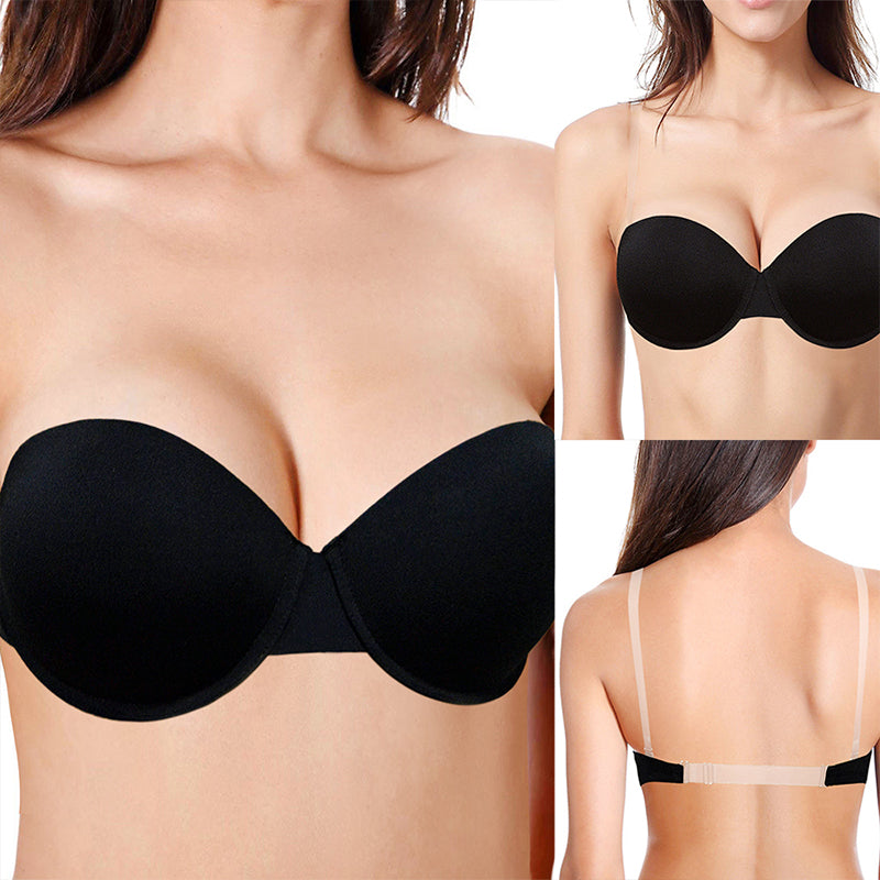 Deep U Plunge Push Up Demi Bra For Wedding Party Yandw 66