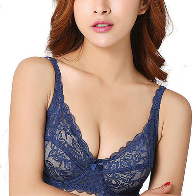 Lace Underwire Multicolor Unlined Demi Bralette Bra