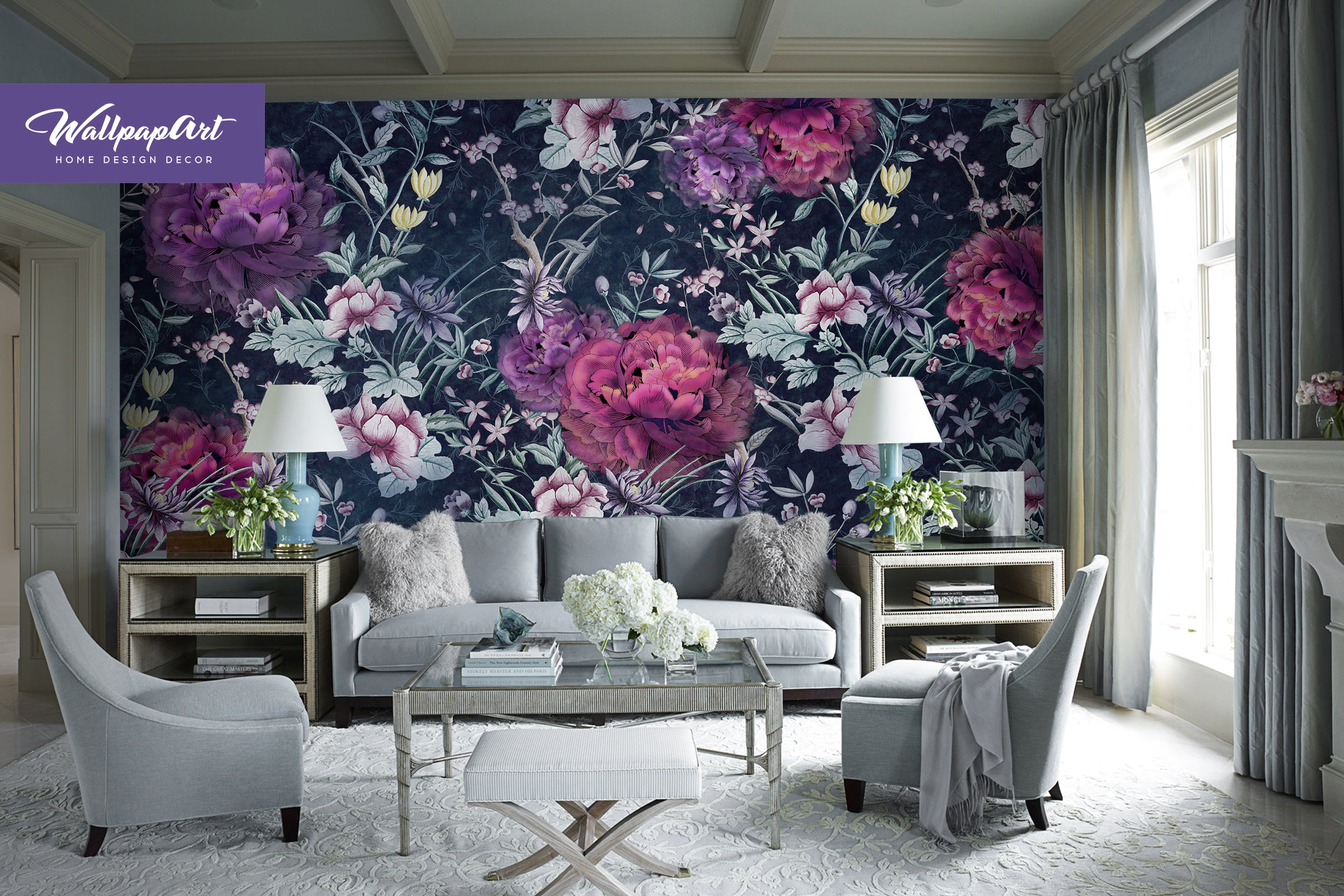 Peony Wallpaper, Temporary Peel And Stick Wall Art, Self Adhesive Wall  Mural #22