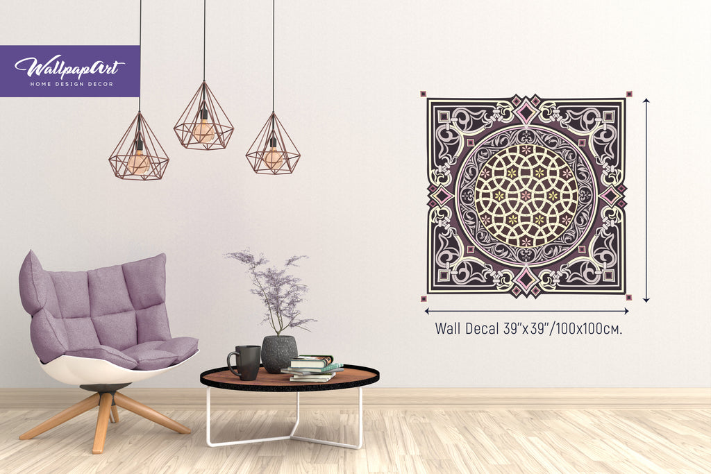 ... Oriental Wallpaper, Oriental Wall Decal, Removable Peel And Stick Wall  Art, Temporary Wall ...
