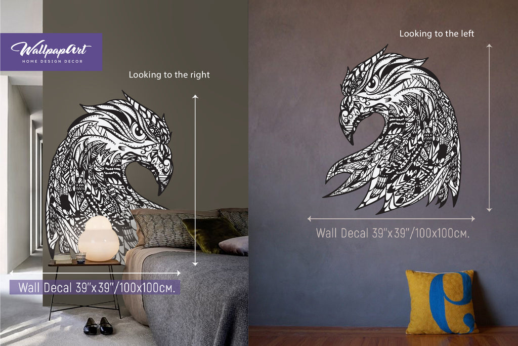 Eagle Eye Self Adhesive Wall Decal, Temporary Peel and Stick Wall ...