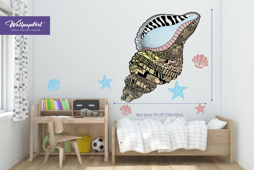 Cool Shells Wall Decal Peel and Stick Wall Mural Removable Wall