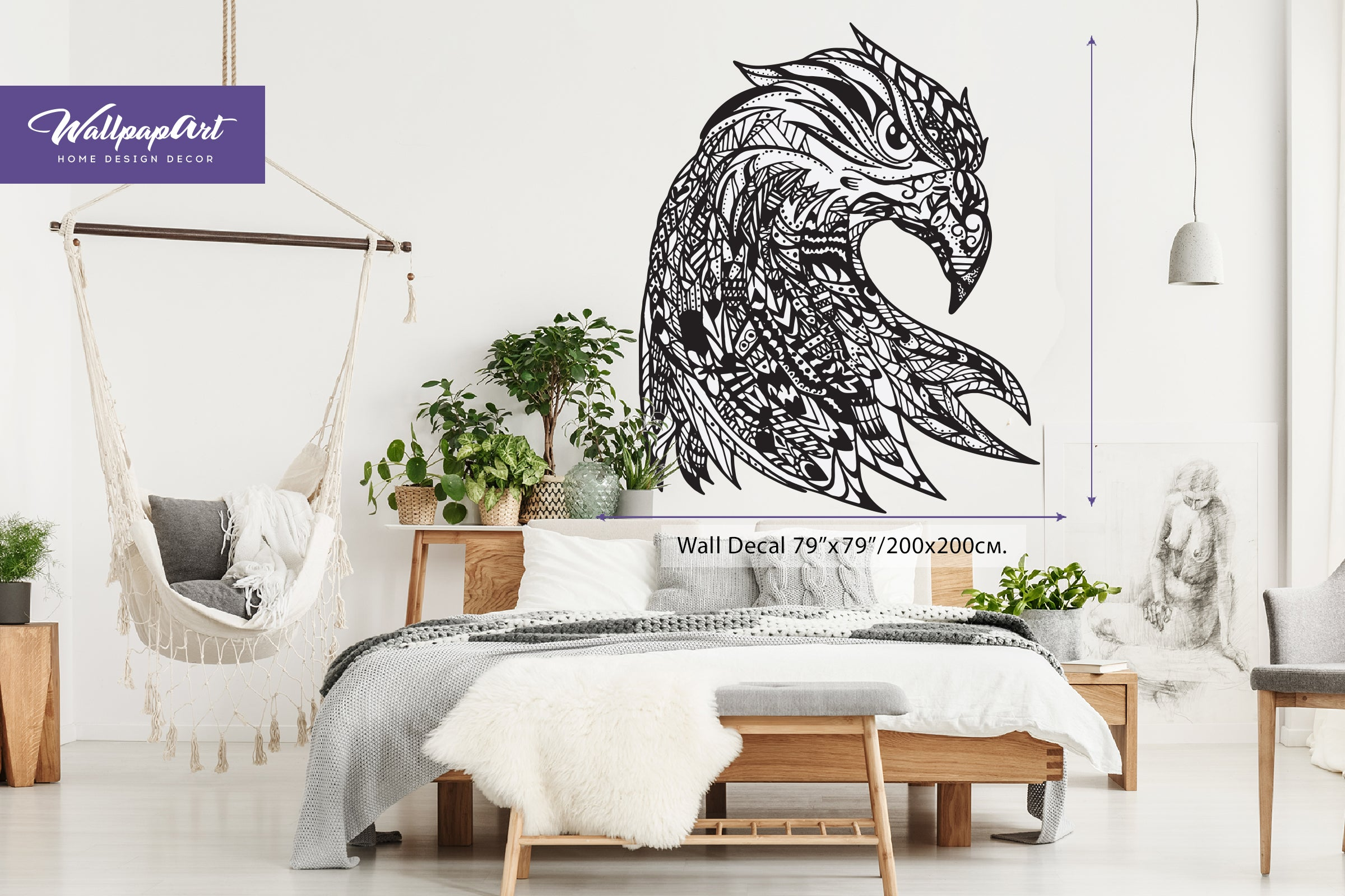 Eagle Eye Self Adhesive Wall Decal Temporary Peel and Stick Wall