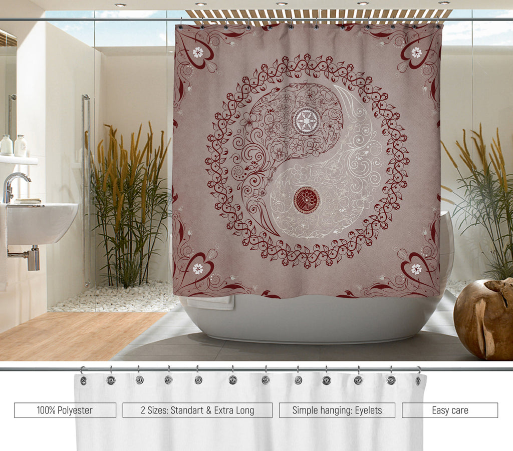 Hand-drawn Shower Curtains, water resistant shower curtains bath ...