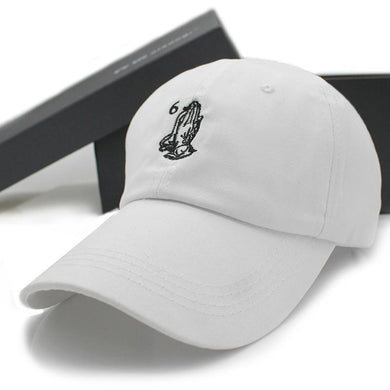 6 God Dad Hat(White)