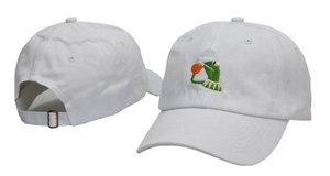 Kermit Tea Dad Hat(white)