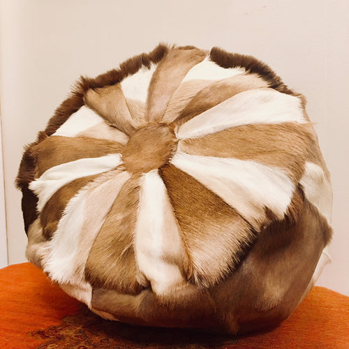 Handmade Deer Hide Throw Pillow
