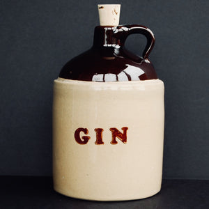 Ceramic One (1) Quart Gin Jug - Vintage