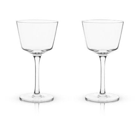 ANGLED CRYSTAL NICK & NORA GLASSES BY VISKI®