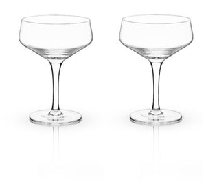 ANGLED CRYSTAL COUPE GLASSES BY VISKI®