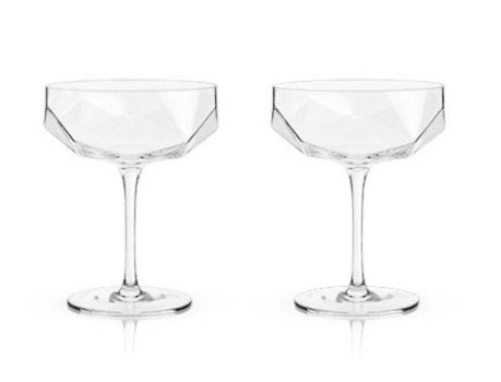 FACETED CRYSTAL COUPES BY VISKI®