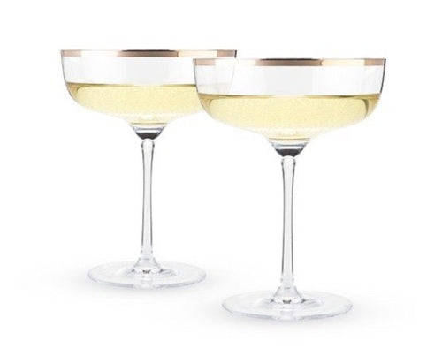COPPER RIM CRYSTAL COUPE SET BY TWINE®