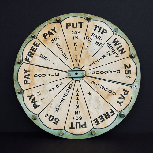 Vintage Drinking Wheel Game