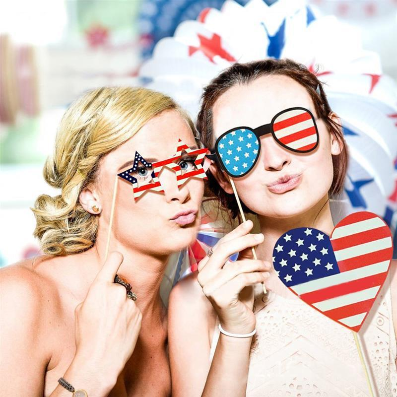 4th of July - Photo Booth Props Kit (25 Pcs)-Innovation