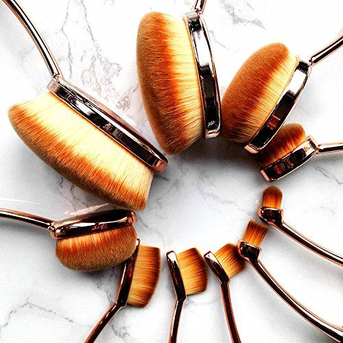 Oval Makeup Brush Set (10 Pieces)-Innovation