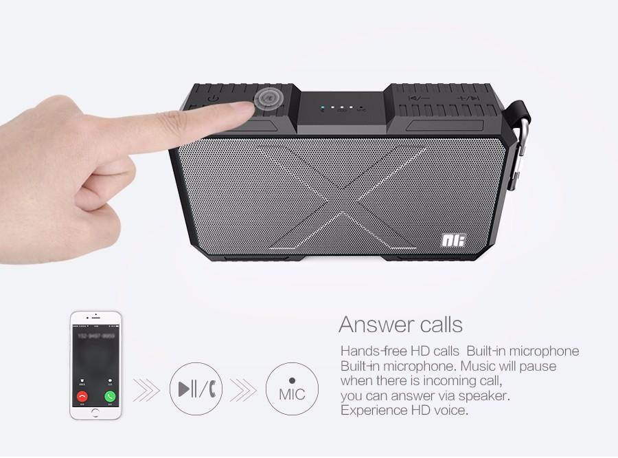 Portable Waterproof Bluetooth Speaker Phone Charger Innovation