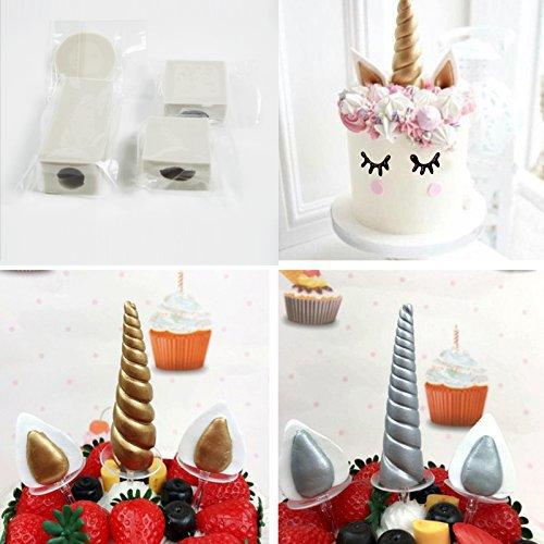 Unicorn Cake Mold Set (Horn, ears and eyelashes)-Innovation