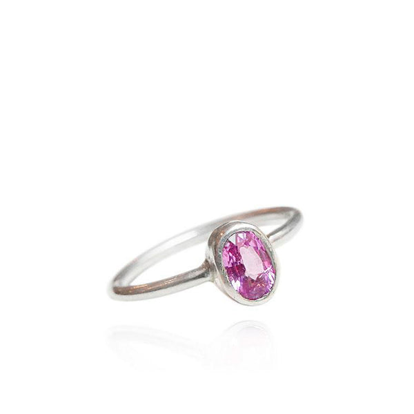 Silver Bonbons - Hot pink sapphire