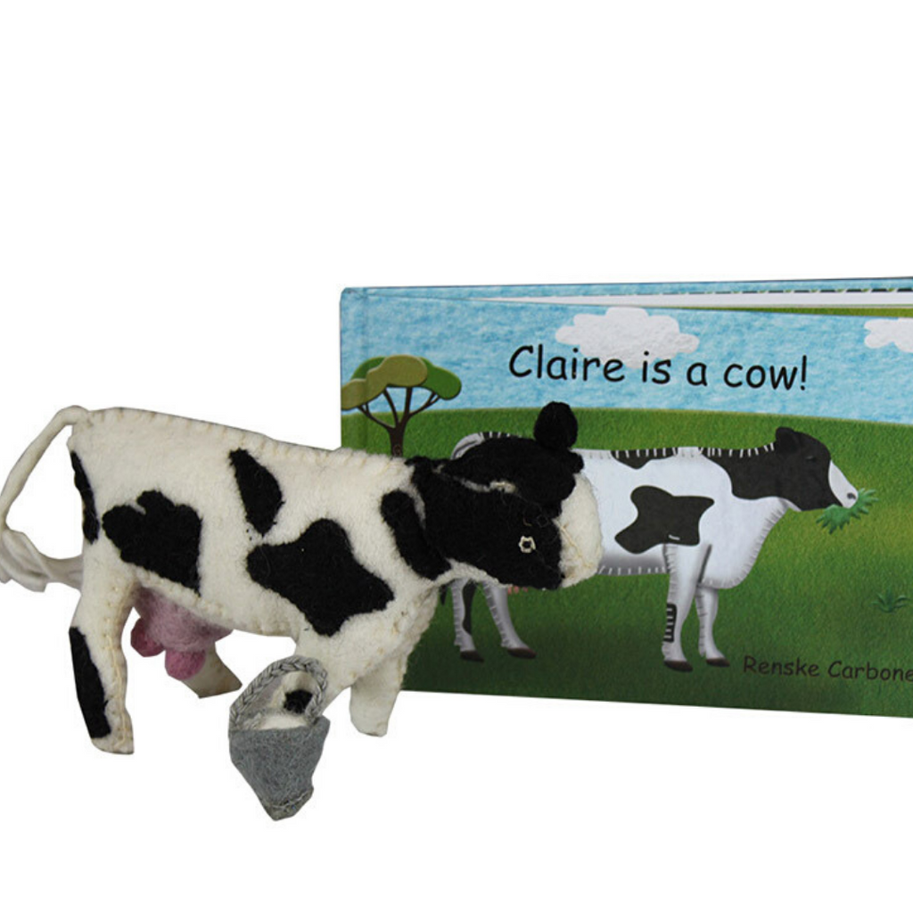 Papoose - Claire is a Cow (Book + Toy)