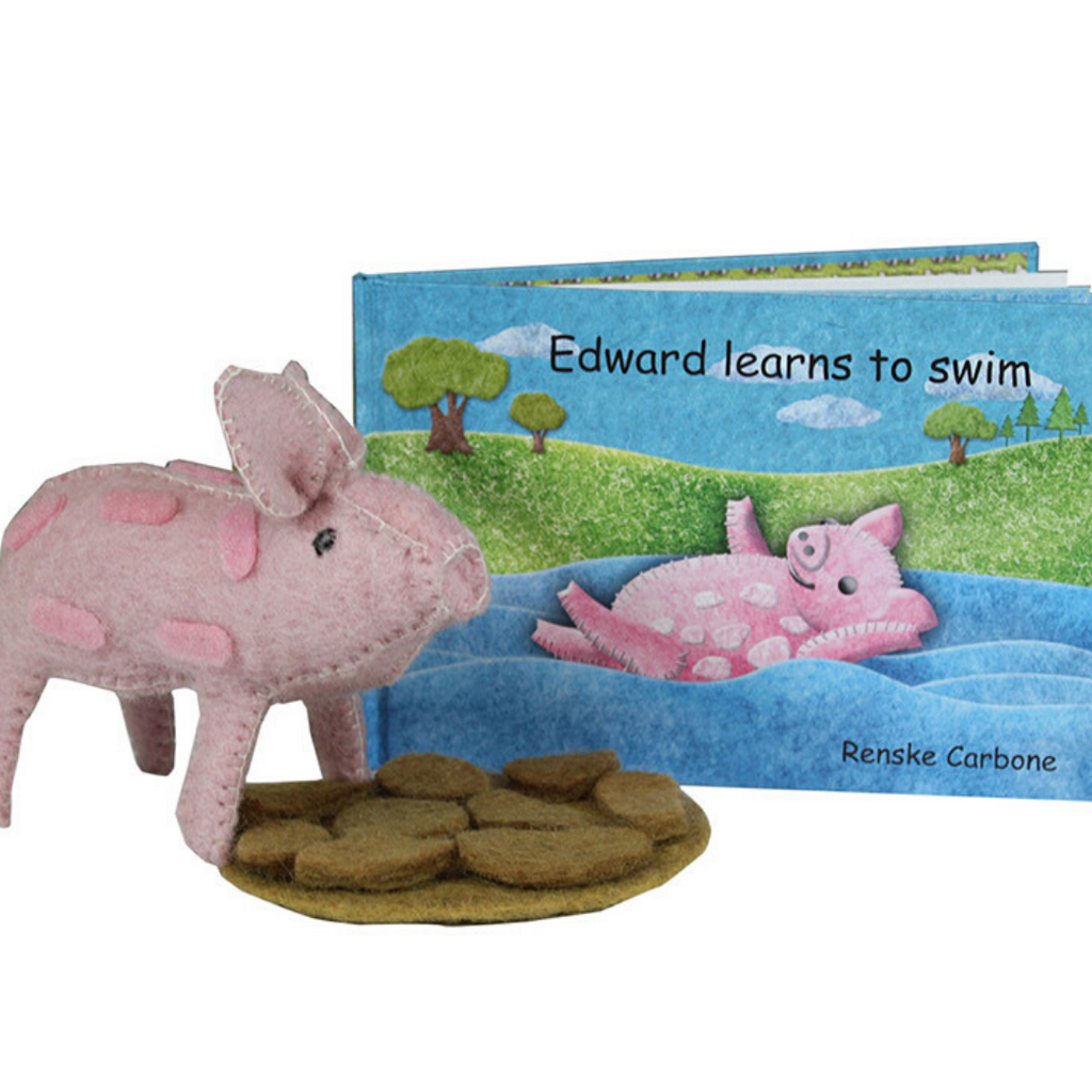 Edward Learns to Swim (Book + Toy)