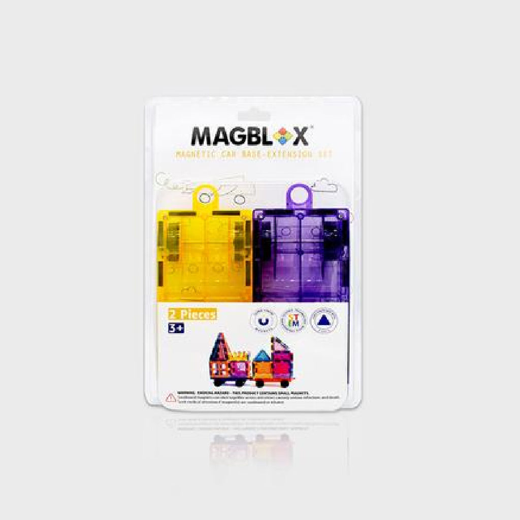 MagBlox Car Twin Pack (Yellow/Purple or Pink/Green)