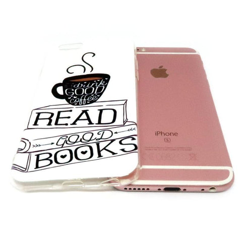 "Mon Cocon de Lecture Coque iPhone ""Books and Coffee"" pour Apple iPhone X, 8, 8 Plus, 7, 7 Plus, 6, 6s, 6s Plus, 5, 5s, 5c, 4, 4s"