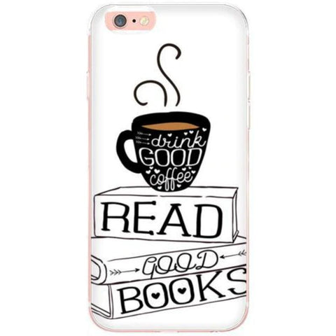 "Image of Mon Cocon de Lecture Coque iPhone ""Books and Coffee"" pour Apple iPhone X, 8, 8 Plus, 7, 7 Plus, 6, 6s, 6s Plus, 5, 5s, 5c, 4, 4s"
