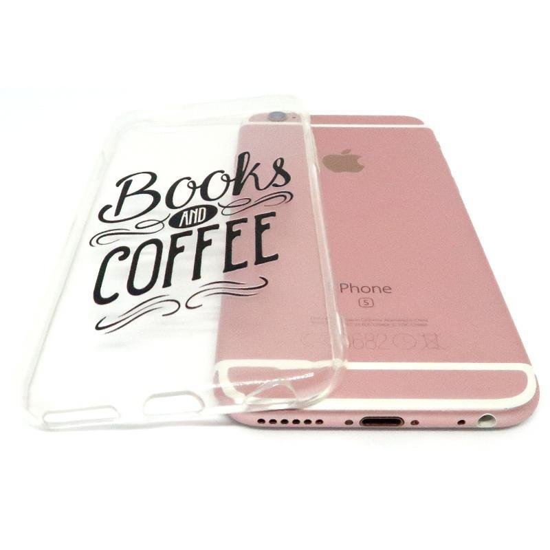 "Mon Cocon de Lecture Coque iPhone ""Books and Coffee"" pour Apple iPhone X, XS, XS Max, XR, 8, 8 Plus, 7, 7 Plus, 6, 6s, 5, 5s, SE, 5c, 4, 4s"