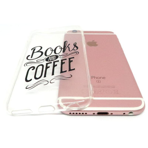 "Image of Mon Cocon de Lecture Coque iPhone ""Books and Coffee"" pour Apple iPhone X, XS, XS Max, XR, 8, 8 Plus, 7, 7 Plus, 6, 6s, 5, 5s, SE, 5c, 4, 4s"