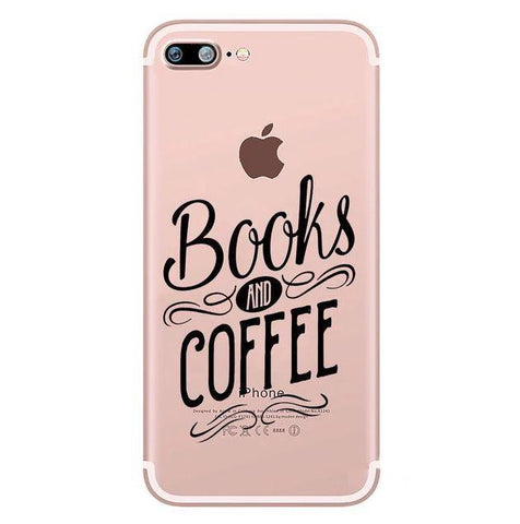 "Coque iPhone ""Books and Coffee"" pour Apple iPhone X, XS, XS Max, XR, 8, 8 Plus, 7, 7 Plus, 6, 6s, 5, 5s, SE, 5c, 4, 4s"