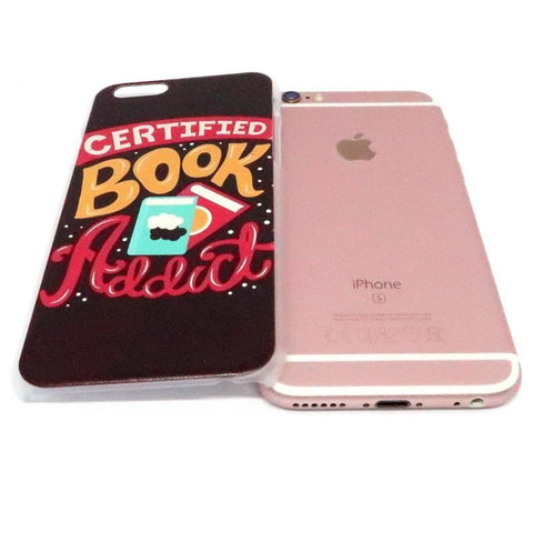 "Mon Cocon de Lecture Coque iPhone ""Certified Book Addict"" pour Apple iPhone X, XS, XS Max, XR, 8, 8 Plus, 7, 7 Plus, 6, 6s, 5, 5s, SE, 5c, 4, 4s"