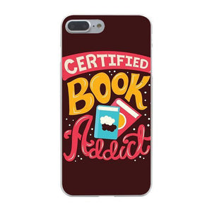 "Mon Cocon de Lecture Coque iPhone ""Certified Book Addict"" pour Apple iPhone X, XS, XS Max, XR, 8, 8 Plus, 7, 7 Plus, 6, 6s, 5, 5s, SE, 5c, 4, 4s iPhone 4 4s"