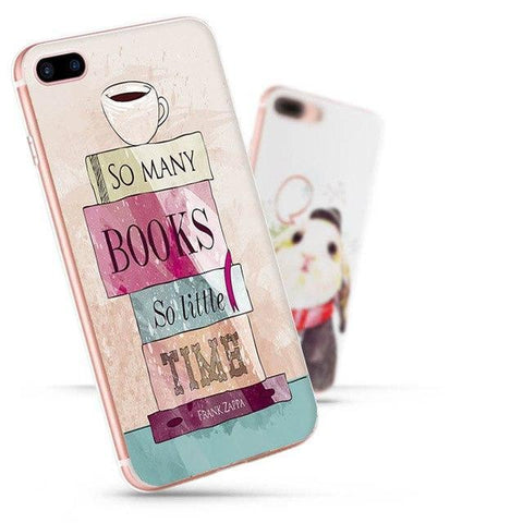 "Mon Cocon de Lecture Coque iPhone ""So Many Books, So Little Time - Franck Zappa"" pour Apple iPhone 7, 6, 6s, 5, 5S, SE, 5C, 4, 4S iPhone 4 4s"