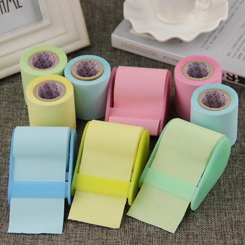 Image of Mon Cocon de Lecture Post-its Rouleaux Lot de 4 (rose, jaune, bleu, vert) → -25%