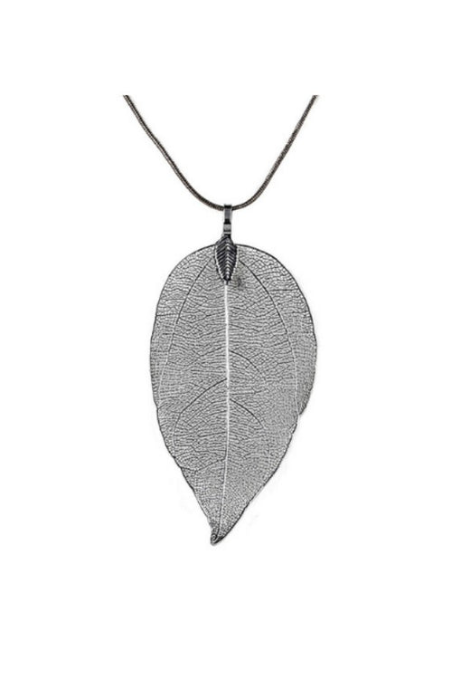 black-Leaf-Sweater-Pendant-Necklace-Online-Leaf-Pendant-Necklace