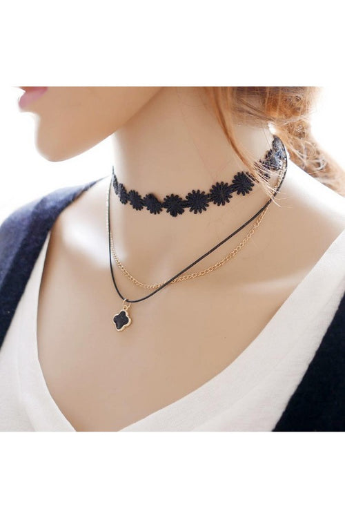 Double-layer-Lace-Choker-necklace-online-free-shipping-in-india